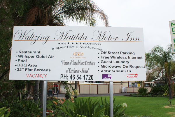 accommodation charleville motel waltzing matilda motor inn
